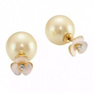 KATE SPADE • Disco Pansy Reversible 2-n-1 Earrings